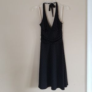 BCBG Polka Dot Halter Dress